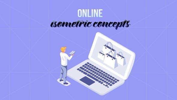 Online - Isometric Concept