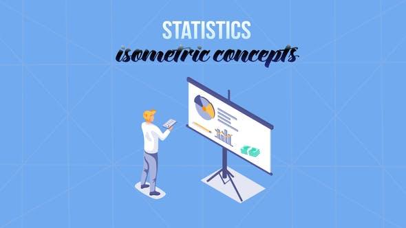 Thumbnail for Statistiques - Isométrique Concept