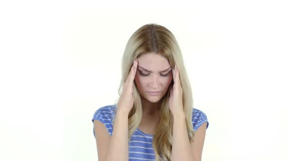 Thumbnail for Young Woman with Headache, Frustration, Tension, Depressed,