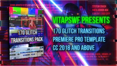 170 Glitch Transitions Pack