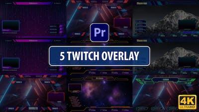 Twitch Overlay Stream Vol.2 | Premiere Pro MOGRT