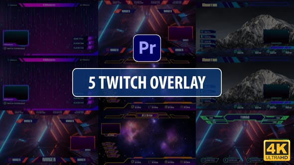 Thumbnail for Twitch Overlay Stream Vol.2 | Premiere Pro MOGRT