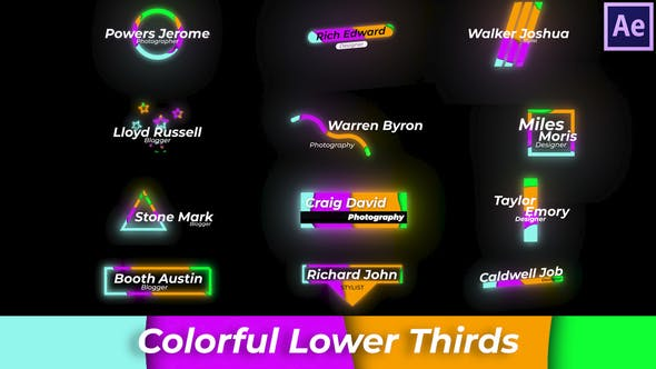 Thumbnail for Colourful Lower Thirds