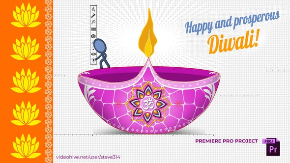 Happy Diwali Greetings Card