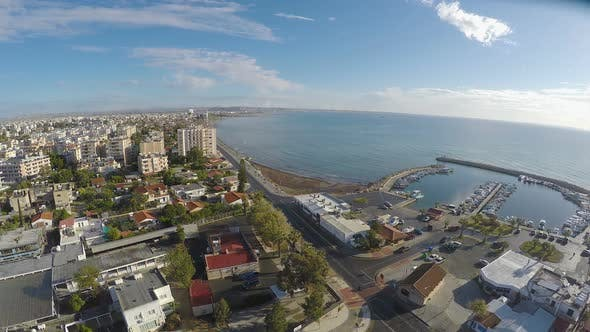 Thumbnail for Amazing Panoramic View Over Larnaca City in Cyprus, Beautiful Landscape