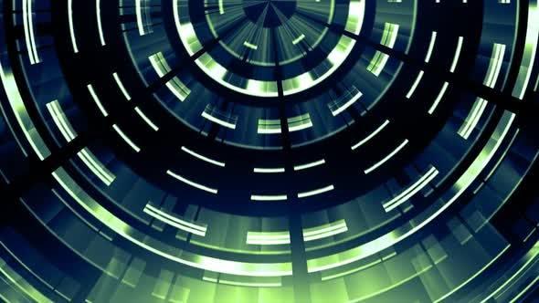 Thumbnail for Elegant Tech Circles Green V01
