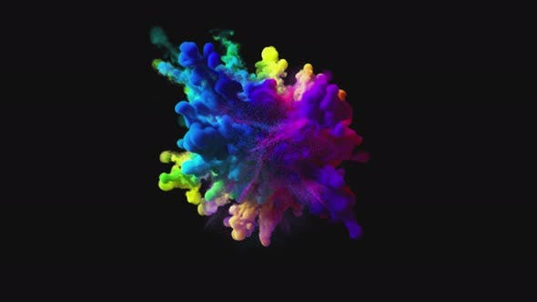 Thumbnail for Explosion of Colorful Multicolored Smoke