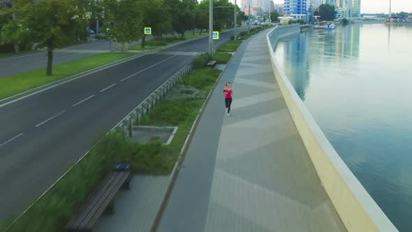 Thumbnail for Runner Woman Running In City Exercising Outdoors 15