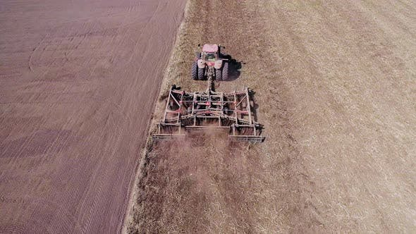 Thumbnail for Agricultural Tractor Cultivating Field