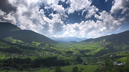 Fairytale Lush Valley in the Alps Mountains