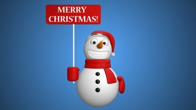 Snowman Merry Christmas