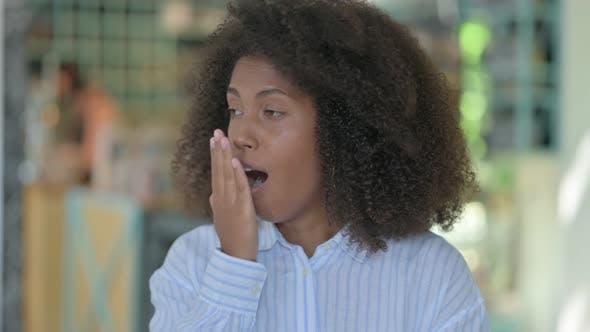 Thumbnail for Sleepy African Woman Yawning