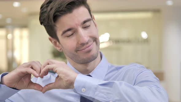 Thumbnail for Heart Gesture By Businessman