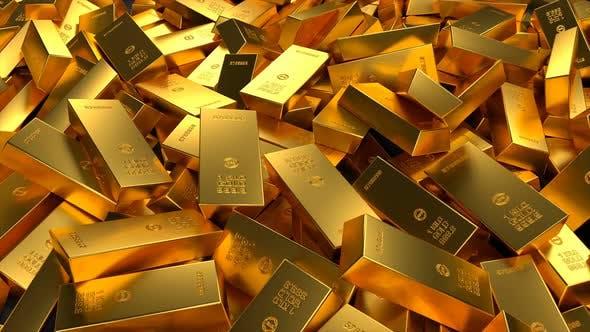 Thumbnail for 1 Kilo Gold Bars Scattered