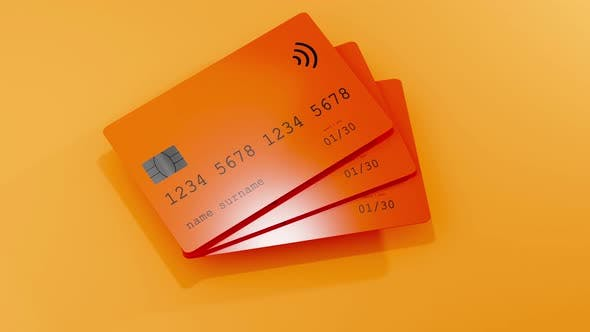 3D Animation of credit cards