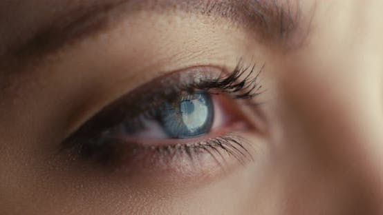 Thumbnail for Close-up Shot of Woman Opening Blue Eyes