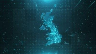 United Kingdom Population Density  4K