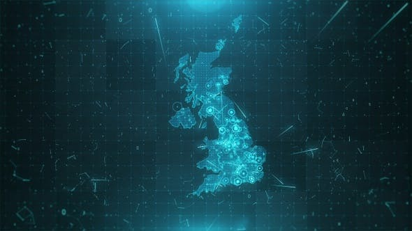 Thumbnail for United Kingdom Population Density  4K