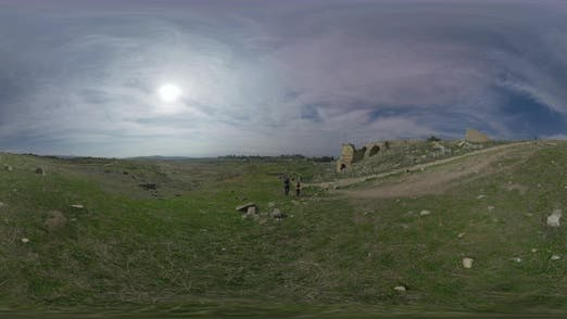 Thumbnail for 360 VR Several Tourists in Hierapolis, Ancient City in Turkey