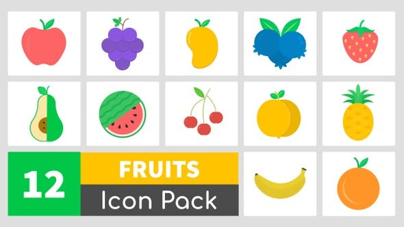 Thumbnail for Animated Fruit Icons Pack