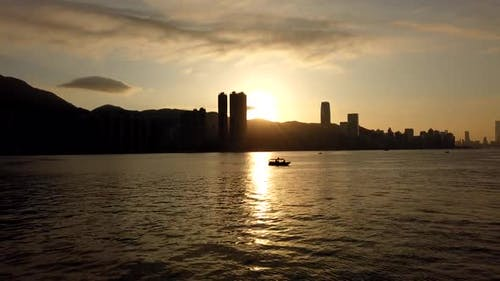 Timelapse - Sunset View Of Victoria Harbour