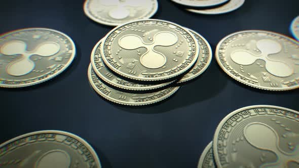 Thumbnail for Ripple Cryptocurrency Coins Rotating