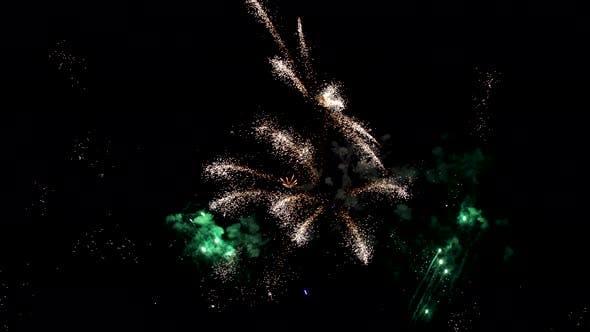 Thumbnail for Fireworks exploding in the sky
