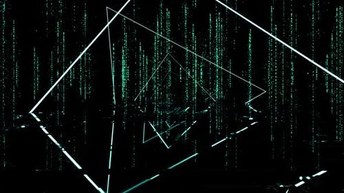 Neon Lights Particle Background Loop