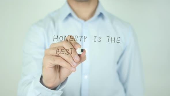 Ehrlichkeit ist die beste Richtlinie, Schreiben auf dem Bildschirm