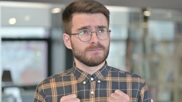 Thumbnail for Portrait of Intimidated Young Designer Feeling Scared in Office