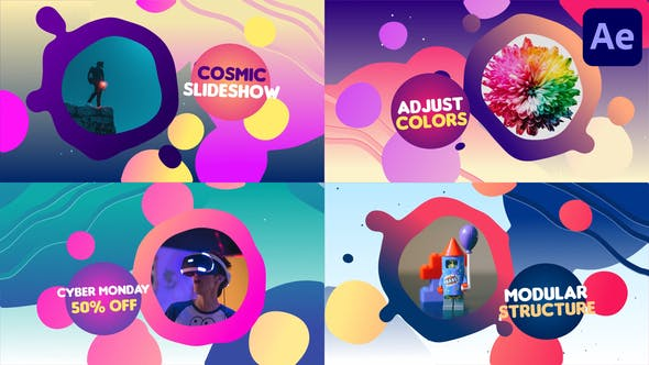 Thumbnail for Liquid Colorful Slideshow | After Effects