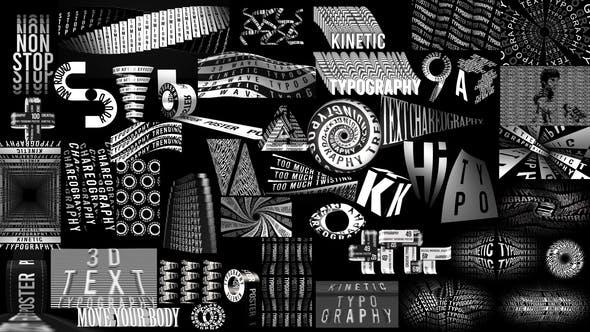 Kinetic Typography Trending Posters