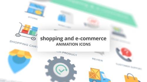 Shopping and E-Commerce - Animation Icons (MOGRT)