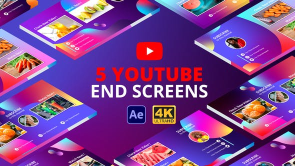 Thumbnail for YouTube End Screens Vol.2 | After Effects