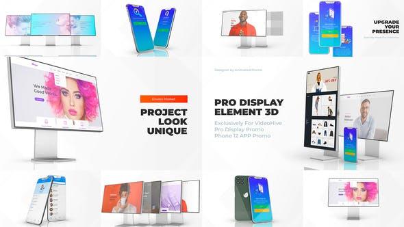 Thumbnail for Макет дисплея телефона 12 Pro - Промо для веб-приложений