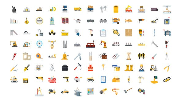 Thumbnail for 100 Construction & Industrial Icons