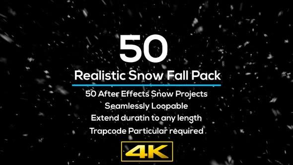 Thumbnail for Lot de 50 projets de chutes de neige réalistes