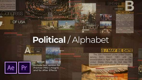 Thumbnail for Political Alphabet. Historical Slideshow