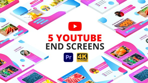 Thumbnail for YouTube End Screens | Premiere Pro MOGRT