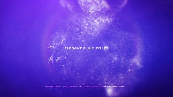 Títulos fluidos elegantes