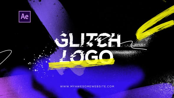 Thumbnail for Glitch Logo Intro Grunge Distortion