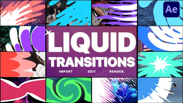 Liquid Transitions Pack 11 | After Effects