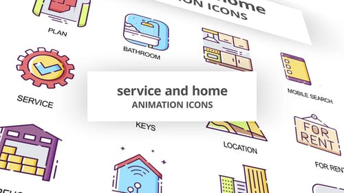 Service & Home - Animation Icons