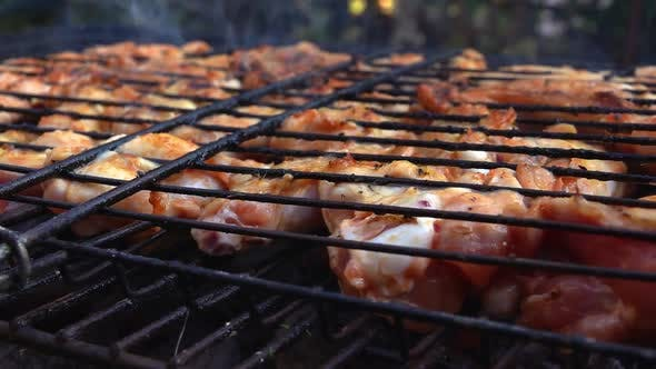 Thumbnail for Delicious Chicken Barbecue On Coal Fire 3