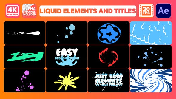Thumbnail for Liquid Elements And Titles   After Effects