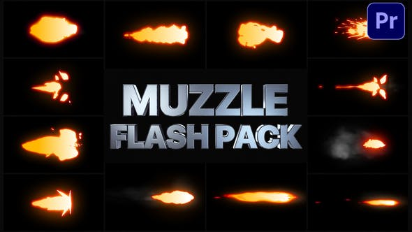 Thumbnail for Muzzle Flash Pack | Premiere Pro MOGRT