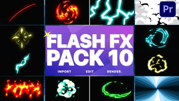 Thumbnail for Flash FX Elements Pack 10 | Premiere Pro MOGRT