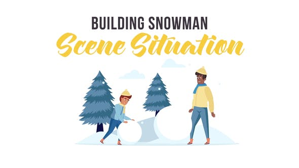 Thumbnail for Construcción de muñeco de nieve - Situación de escena
