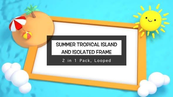 Thumbnail for Summer Tropical Island Frame Pack
