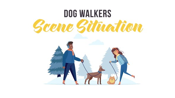 Thumbnail for Dog walkers - Scene Situation